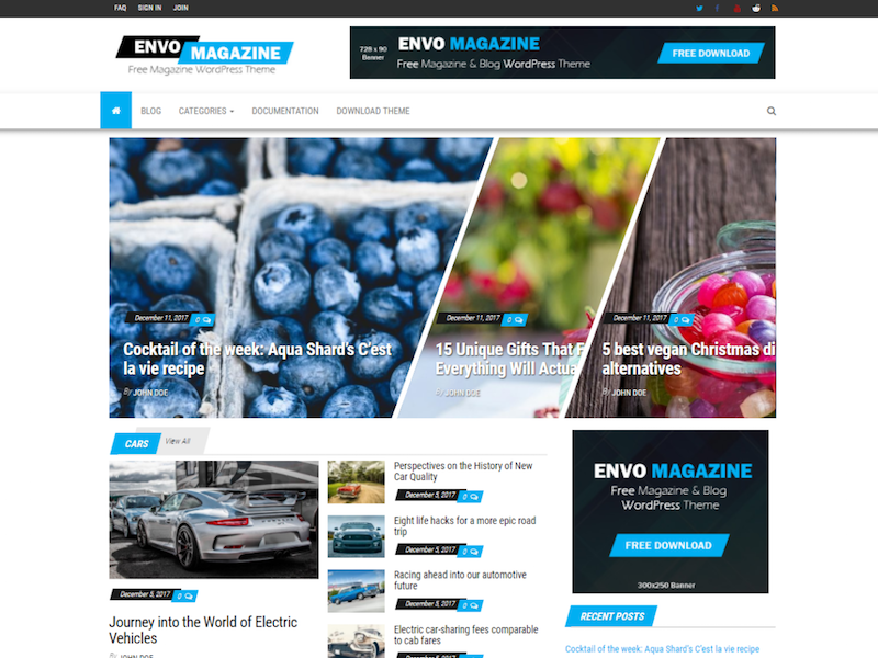 Envo Magazine WordPress Theme