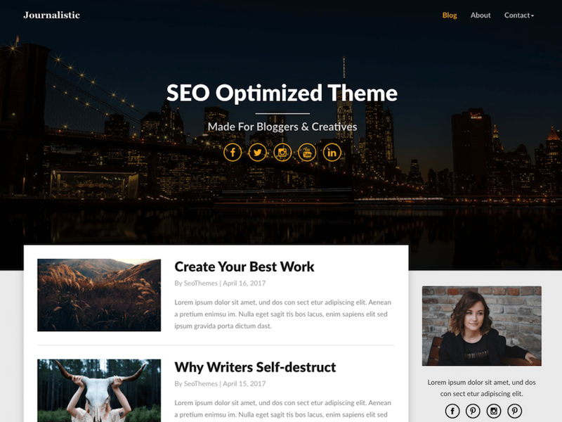 Journalistic WordPress Theme