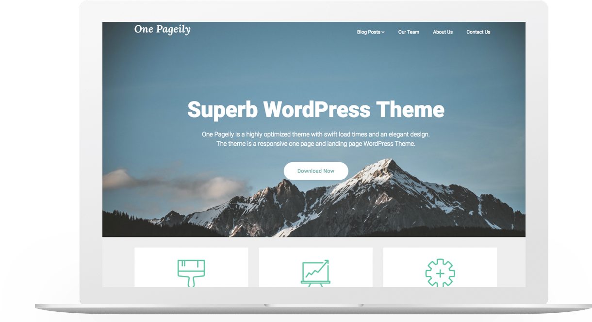 One Pageily | Superb WordPress Themes