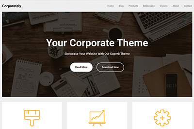 Corporately A Free WordPress Theme