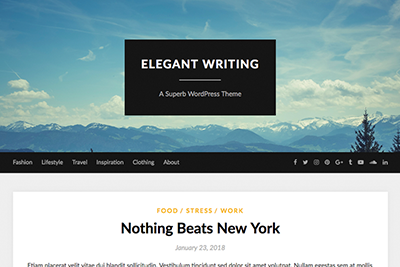 Elegant WritingFree and Premium WordPress Theme