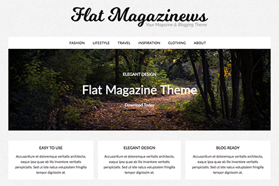 Flat Magazine Premium WordPress Theme