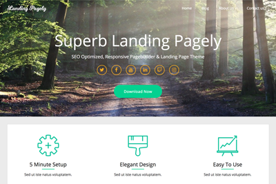 Landing Pagely Premium WordPress Theme