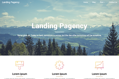 Landing Pagency Premium WordPress Theme