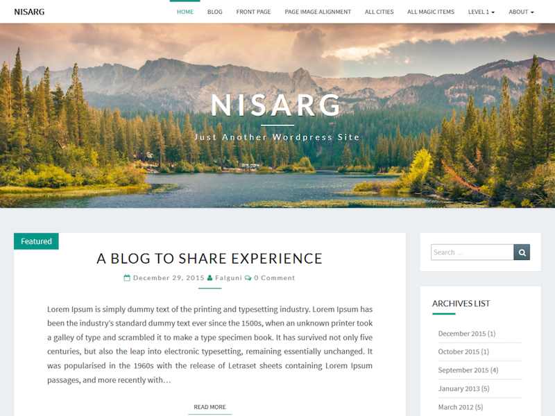 Nisarg WordPress Theme