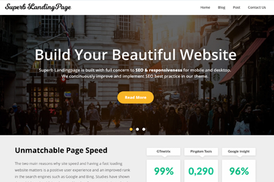 Superb Landing Page Premium WordPress Theme