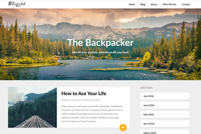 Bloggist A Free WordPress Theme