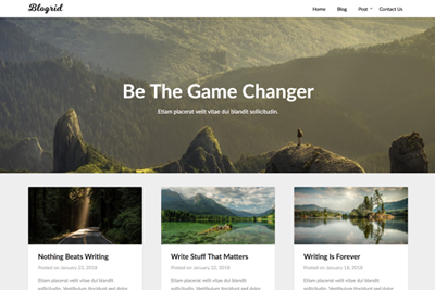 Blogrid A Free WordPress Theme