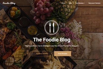 Foodie Blog A Free WordPress Theme