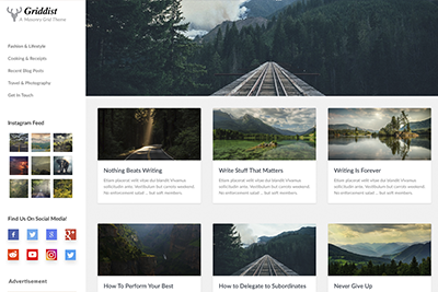 Griddist A Free WordPress Theme