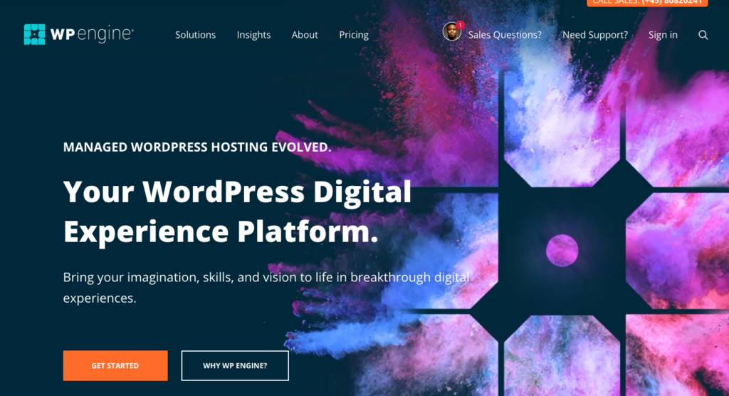 WP Engine cloud hosting integrates well with WordPress