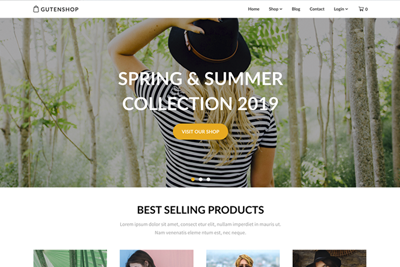 Gutenshop A Free WordPress eCommerce Theme