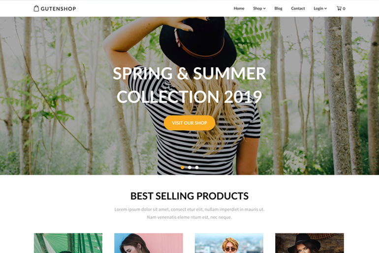 Gutenshop Premium WordPress eCommerce Theme