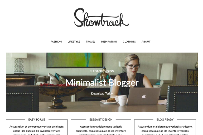 MinimalistBlogger Free and Premium WordPress Theme