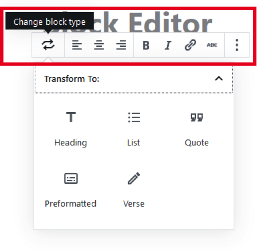 Gutenberg Blocks Settings