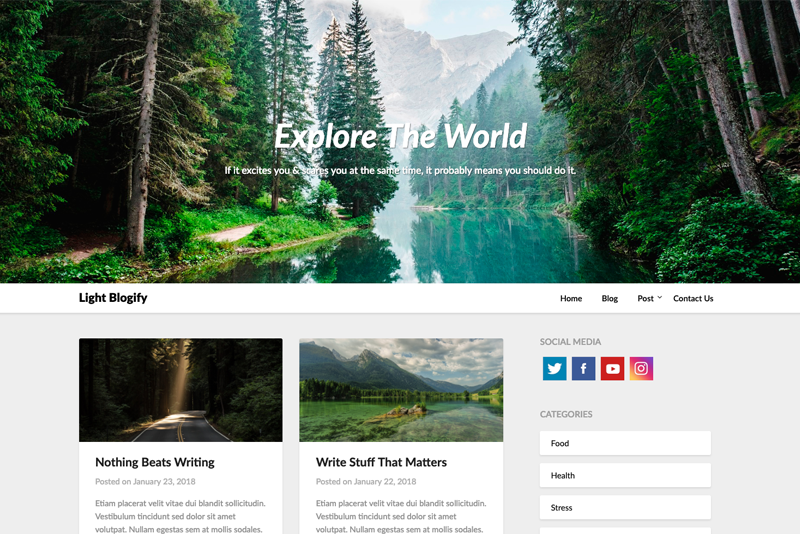 Light Blogify Premium WordPress Theme