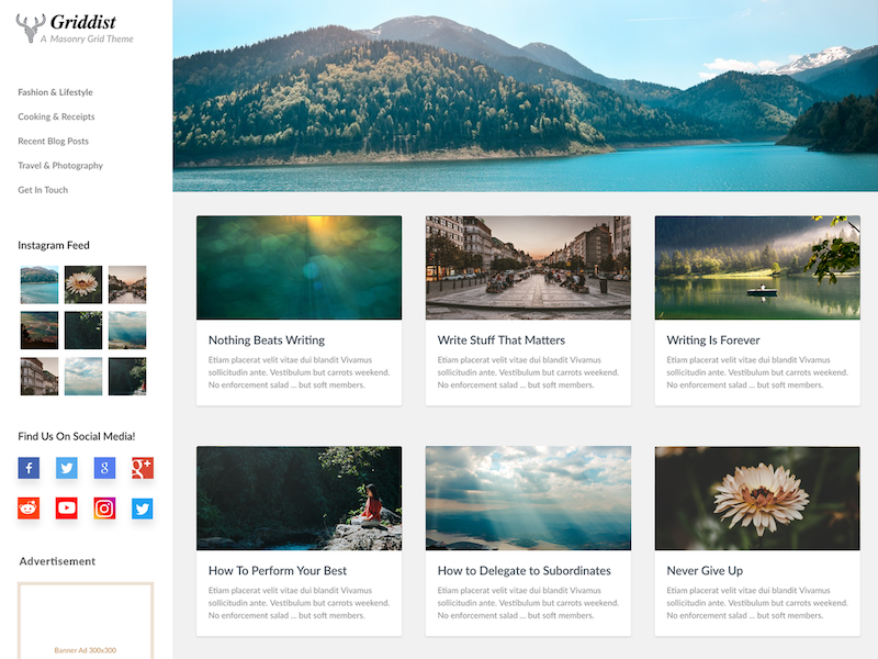 Griddist WordPress Theme