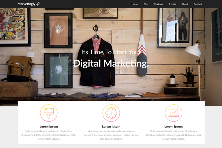 Marketingly WordPress theme can be downloaded for free