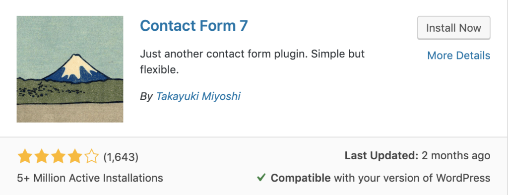 Contact Form 7 – Just another contact form plugin for WordPress.