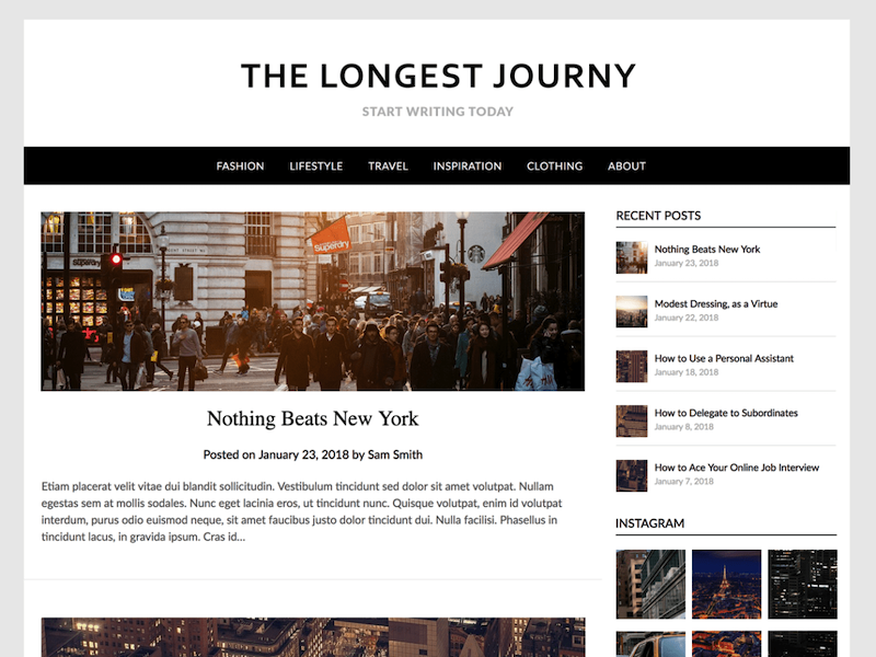 Simple Responsive Blogily - An environment friendly theme