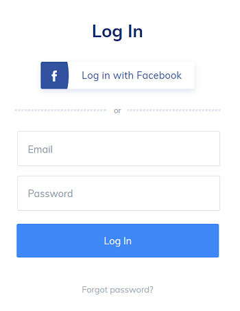 tidio log in with facebook
