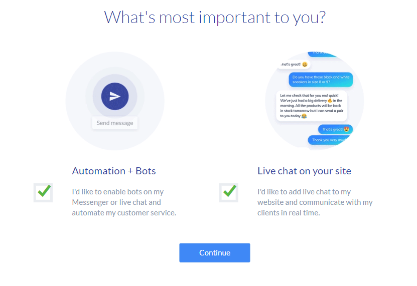 Tidio automation and bots