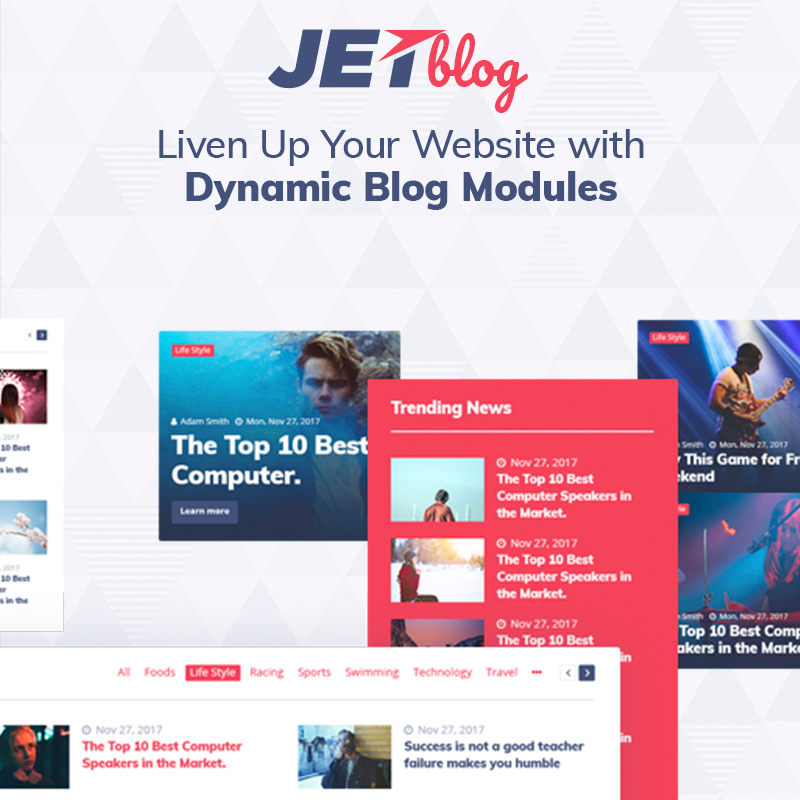 Jetblog the Elementor compatible wordpress plugin