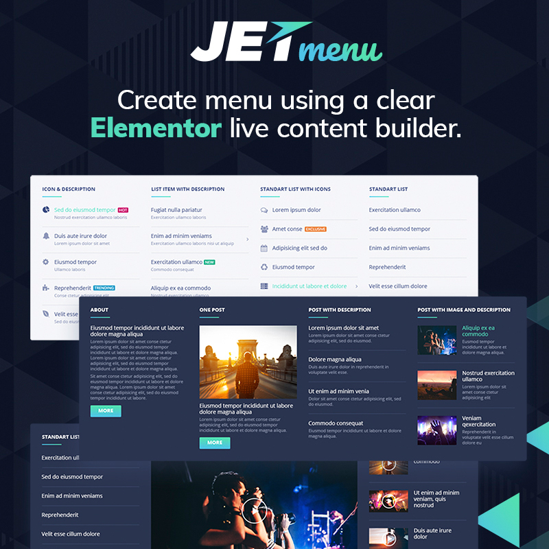 jetmenu the Elementor compatible wordpress plugin