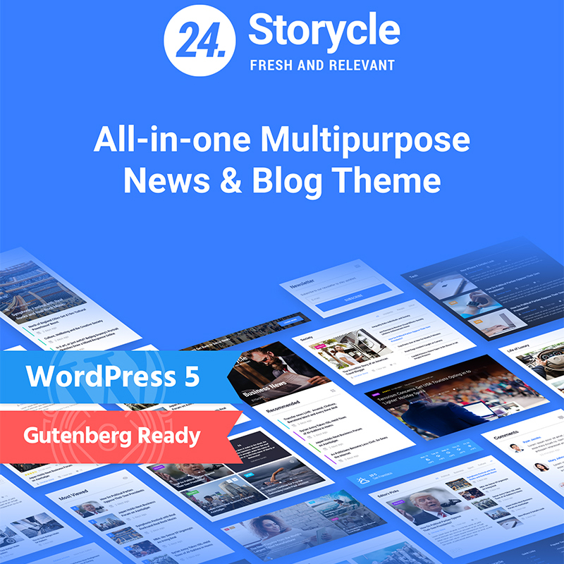 24 Storycle WordPress theme made for Elementor