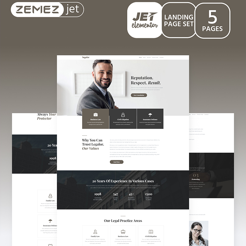 Justicon Elementor compatible wordpress themes