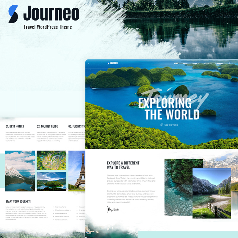 Journeo WordPress template made for Elementor