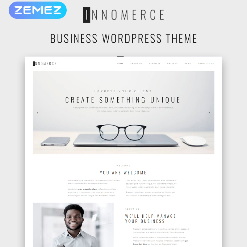 Innomerce WordPress template made for Elementor