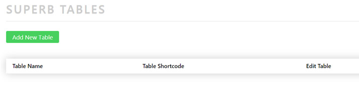 how to install tables on your wordpress website