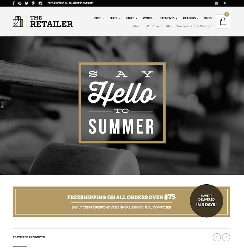 The retailer wordpress theme for eCommerce websites