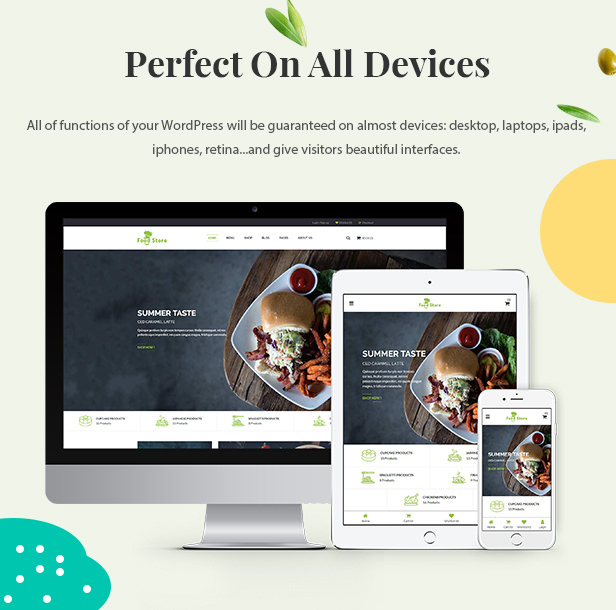 food store wordpress theme for eCommerce websites