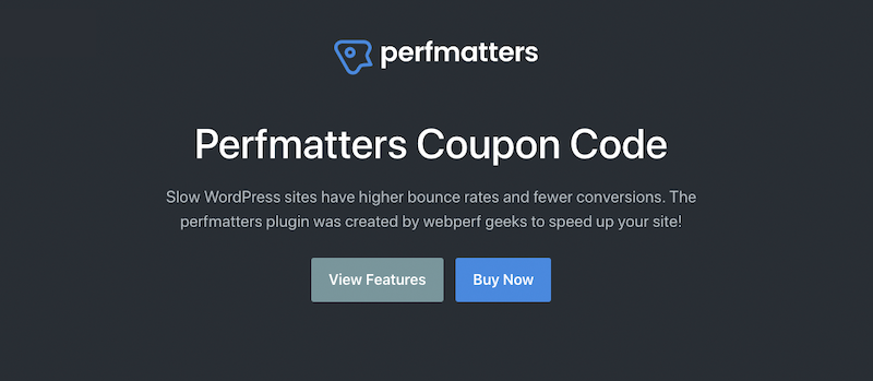 perfmatters coupon code