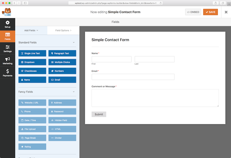 how to use wp forms