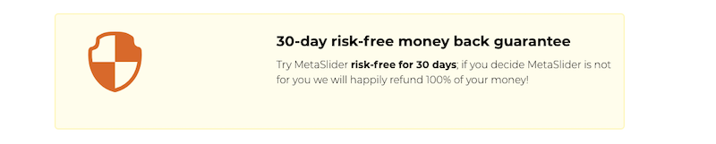 metaslider refund policy