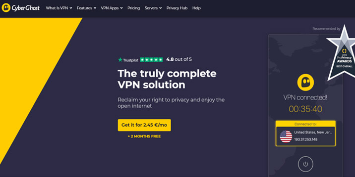 CyberGhost is fourth most sold VPN