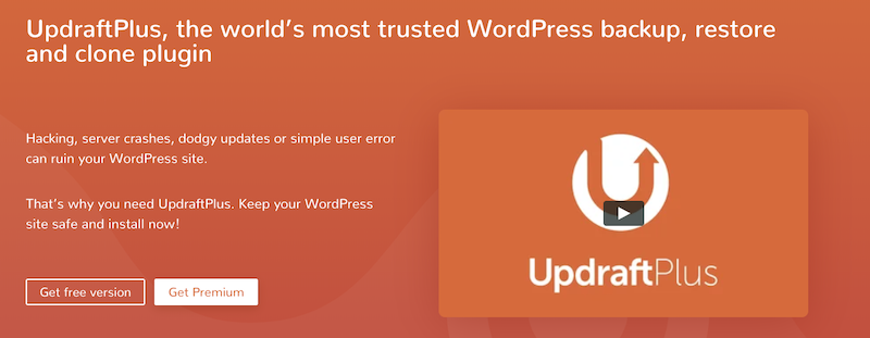7. UpdraftPlus WordPress Backup WordPress Plugin