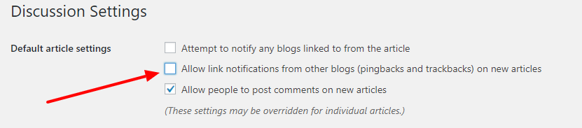 Allow link notification from other blogs