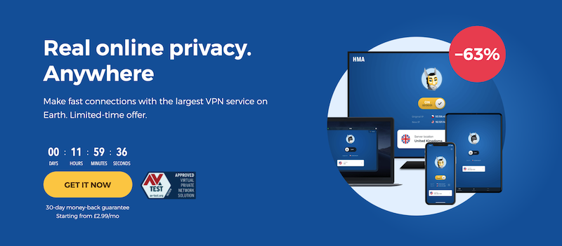 HideMyAss is currently the most sold VPN