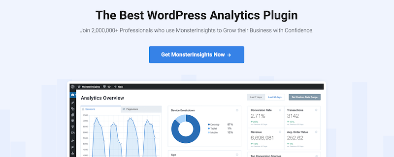 6. Google Analytics Dashboard by MonsterInsights WordPress Plugin