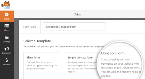 WordPress Donation Form