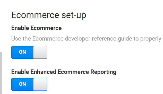 Enabling Ecommerce Analytics