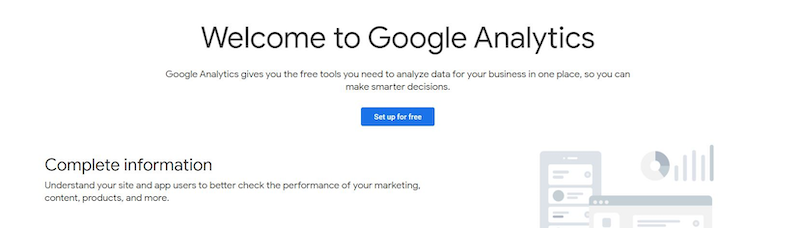 Setting up Analytics