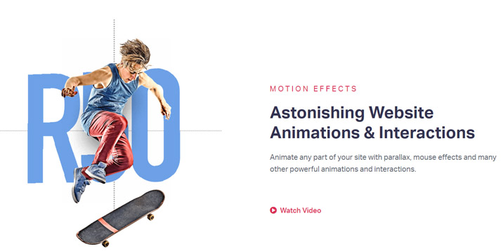 Motion Effects and Mouse Effects