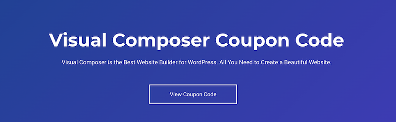 Visual Composer Coupon Code