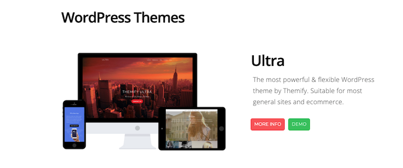 Free Demos for Ultra and Themify Builder