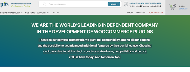 Yith Themes Top WooCommerce Plugins